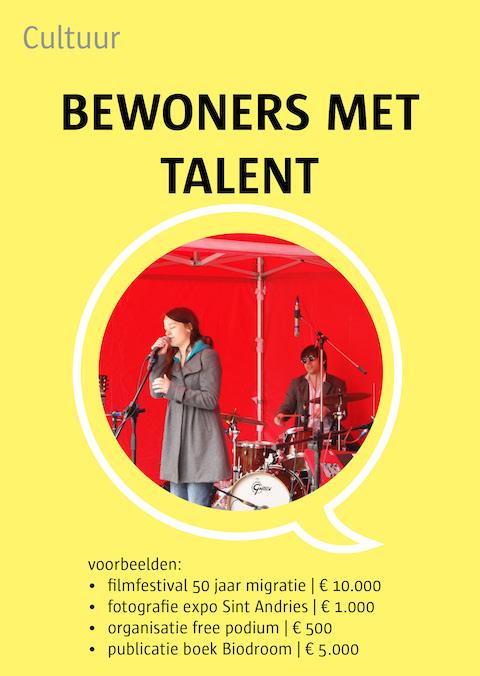 bewoners met talent