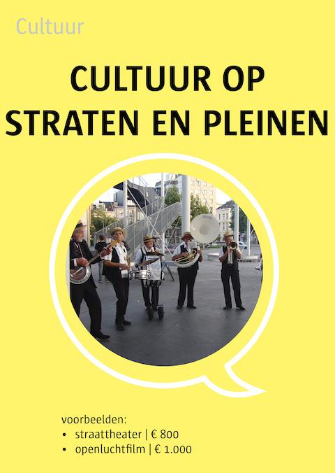 cultuur op straten en pleinen