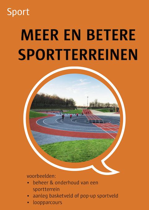 meer en betere sportterreinen
