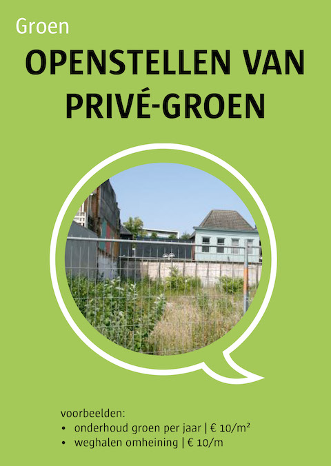 openstellen van privé-groen