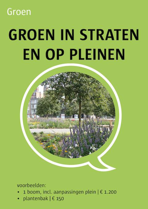 groen in straten en op pleinen