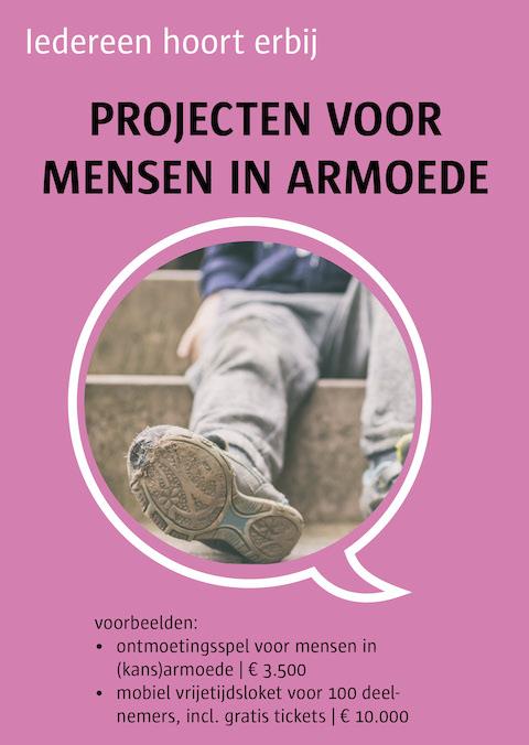 projecten voor mensen in armoede